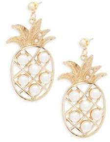 Natasha Faux Pearl Bead Pineapple Earrings