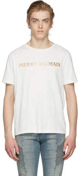 Pierre Balmain White Logo T-Shirt
