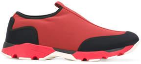 Marni colour block slip-on sneakers