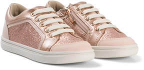 Mayoral Copper Glitter Zip and Lace Trainers