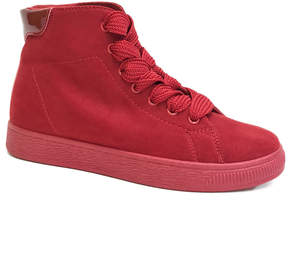 Bamboo Red Smitty Hi-Top Sneaker