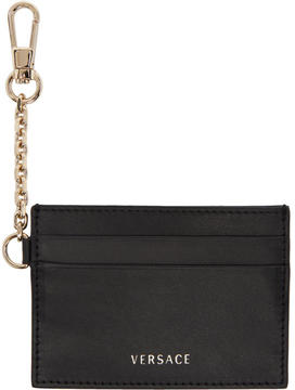 Versace Black Chain Hook Card Holder