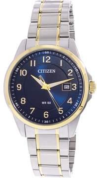 Citizen Men's BI5044-57L Silver Stainless-Steel Japanese Quartz Fashion Watch
