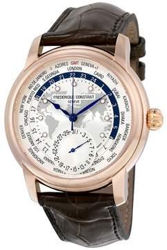 Frederique Constant Worldtimer Automatic Silver Dial Men's Watch