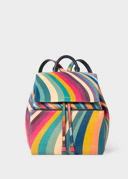 Paul Smith Women's 'Swirl' Print Leather Backpack