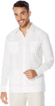 Cubavera Slim Fit 100% Linen Long Sleeve Guayabera