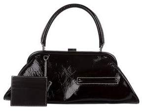 Lambertson Truex Patent Leather Frame Bag