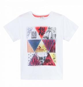 3 Pommes Geometric Printed T-Shirt