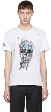 Alexander McQueen White Tree of Life Skull Shirt