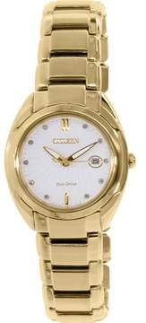 Citizen Women's Eco-Drive EM0313-54A Gold Stainless-Steel Eco-Drive Fashion Watch
