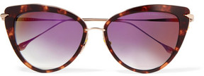 Dita Heartbreaker Cat-eye Acetate And Gold-tone Sunglasses - Tortoiseshell