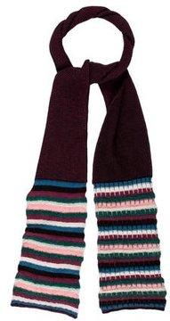 M Missoni Merino Wool-Blend Striped Scarf