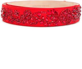 Alexander McQueen bejewelled belt
