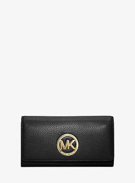 Michael Kors Fulton Leather Carryall Wallet - BLACK - STYLE