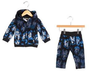 Roberto Cavalli Boys' Abstract Print Hooded Jogger Set w/ Tags