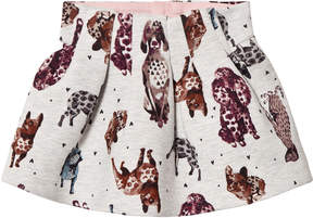 Catimini Grey Dog Print Sweat Skirt