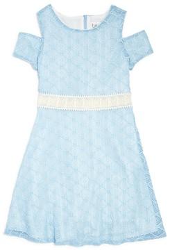 Blush by Us Angels Girls' Cold Shoulder Lace Dress - Big Kid