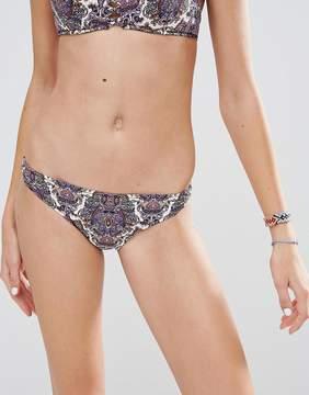 Undiz Printed Lattice Bikini Bottom
