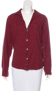 Frank And Eileen Barry Plaid Button-Up Top