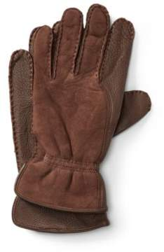 Ralph Lauren Leather-Shearling Gloves Dk Brown M