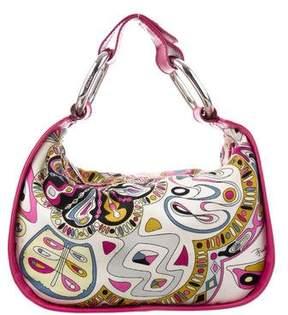Emilio Pucci Leather-Trimmed Paisley Bag
