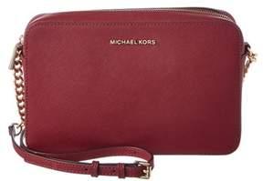 MICHAEL Michael Kors Jet Set Travel Large Leather East/west Crossbody. - PINK - STYLE