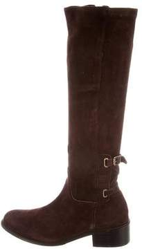 Delman Suede Knee-High Boots