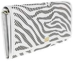 Roberto Cavalli Long Size Wlt W/strap Audrey 8 White/black Wallet