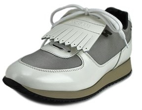 Hogan H221 B-dress Tes H Iniet Frangia Round Toe Patent Leather Sneakers.