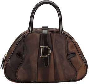 Christian Dior Vintage Saddle Brown Synthetic Handbag