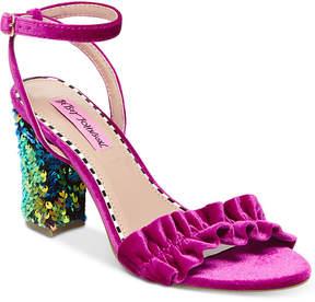 Betsey Johnson Ilana Block-Heel Sandals Women's Shoes