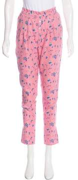 Band Of Outsiders Silk-Blend Printed Pants