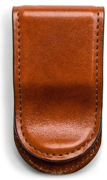 Bosca Men's Leather Money Clip - Brown