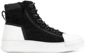 Bruno Bordese hi-top lace up sneakers