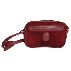 Cartier Vintage Red Suede Handbag