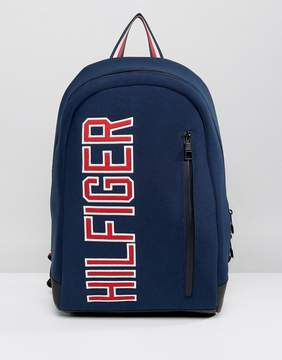 Tommy Hilfiger Large Logo Backpack in Navy