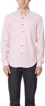 Naked & Famous Denim Flower Dyed Oxford Shirt