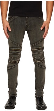 Just Cavalli Zippered Moto Jeans Men's Jeans