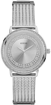 GUESS Willow Silver-Tone Mesh Watch