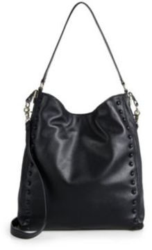 Loeffler Randall Studded Leather Hobo Bag