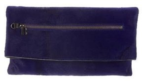Balmain Ponyhair Fold-Over Clutch