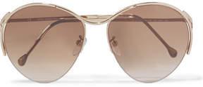 Loewe Talamanca Round-frame Gold-tone Sunglasses