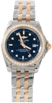 Breitling Galactic pink gold watch