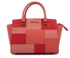 MICHAEL Michael Kors Selma Medium Colorblock Satchel - GRAPEFRUIT - STYLE