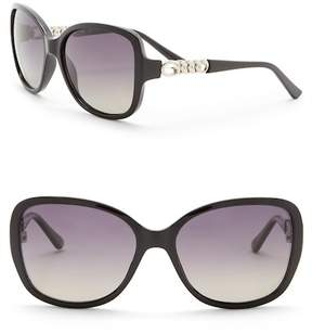 GUESS 59mm Polarized Butterfly Sunglasses