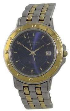 Raymond Weil Geneve 5560 Stainless Steel/Gold Plated Blue Dial Quartz 38mm Mens Watch