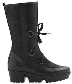Arche Women's Ice Lug Sole Boot Black Leather Size 38 M.