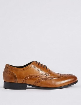 Marks and Spencer Leather Oxford Brogue Shoes