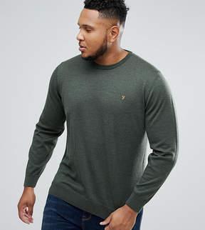 Farah PLUS Mullen Merino Sweater in Olive