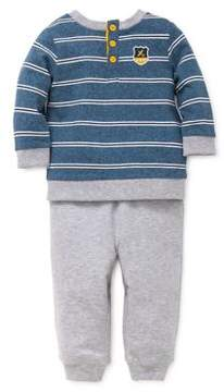 Little Me Baby Boy's Two-Piece Airplane Inspire Top and Sweatpants